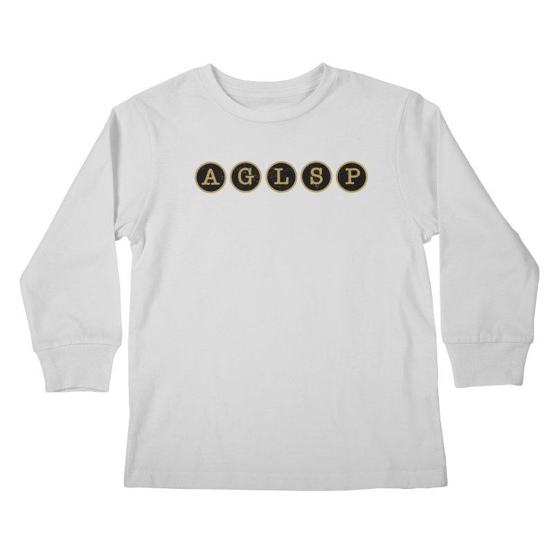 AGLSP Logo Sans Tagline Kids Longsleeve T-Shirt by AGLSP's Swag Shoppe