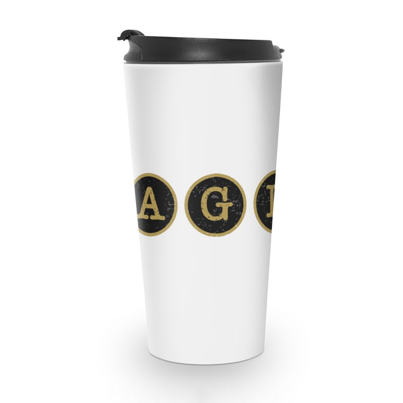 AGLSP Logo Sans Tagline Accessories Travel Mug by AGLSP's Swag Shoppe