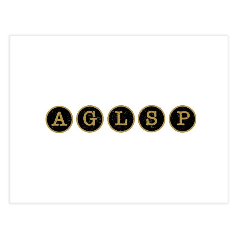 AGLSP Logo Sans Tagline Home Fine Art Print by AGLSP's Swag Shoppe