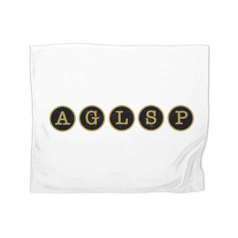 AGLSP Logo Sans Tagline Home Fleece Blanket Blanket by AGLSP's Swag Shoppe