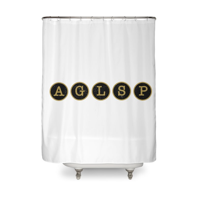 AGLSP Logo Sans Tagline Home Shower Curtain by AGLSP's Swag Shoppe