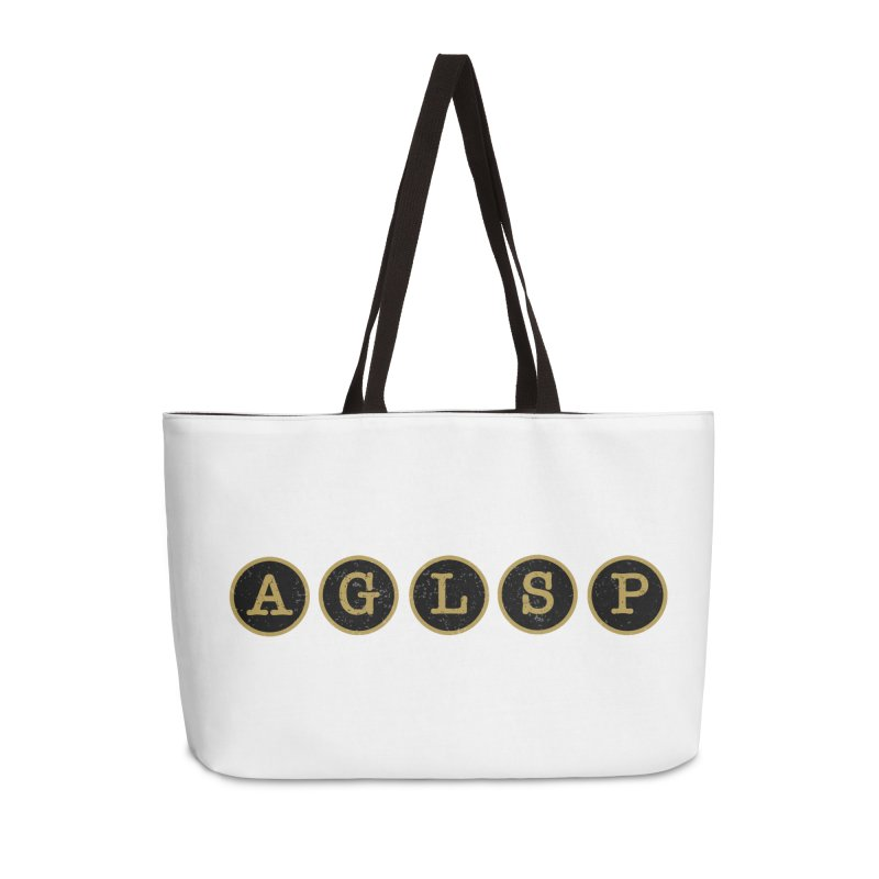 AGLSP Logo Sans Tagline Accessories Weekender Bag Bag by AGLSP's Swag Shoppe