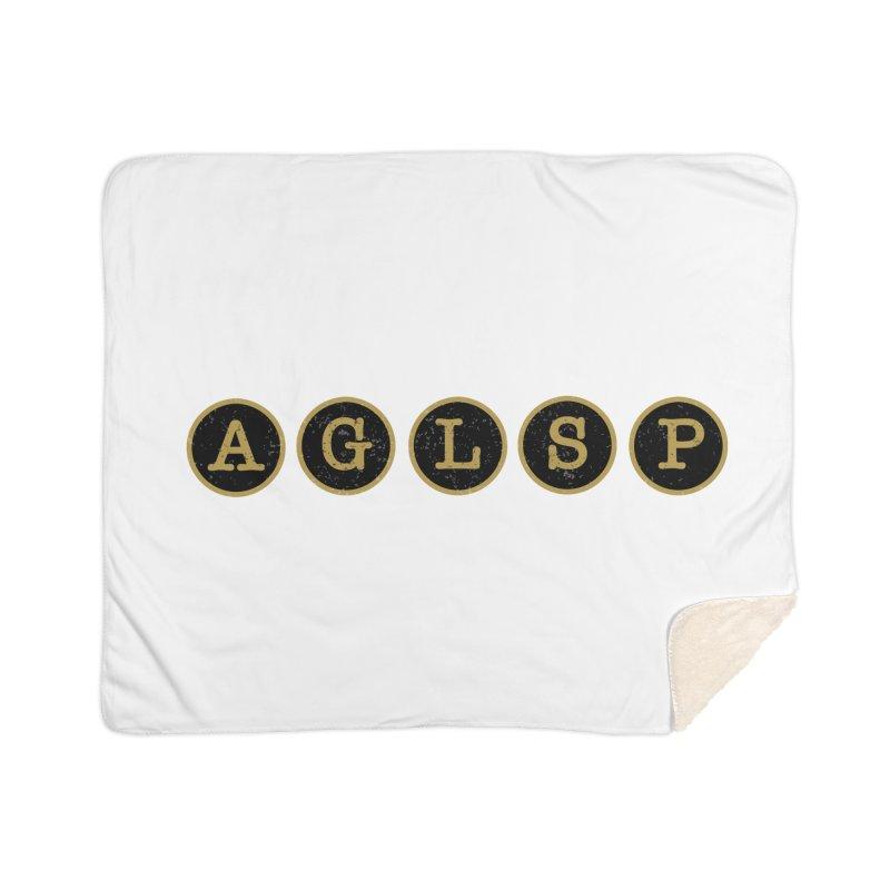AGLSP Logo Sans Tagline Home Sherpa Blanket Blanket by AGLSP's Swag Shoppe