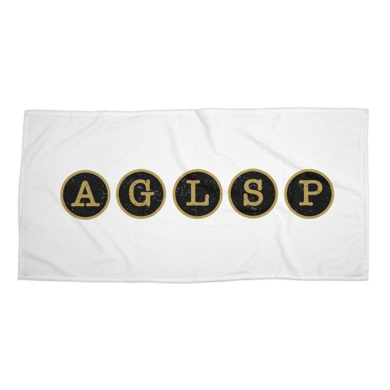 AGLSP Logo Sans Tagline Accessories Beach Towel by AGLSP's Swag Shoppe