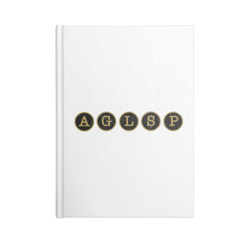 AGLSP Logo Sans Tagline Accessories Blank Journal Notebook by AGLSP's Swag Shoppe
