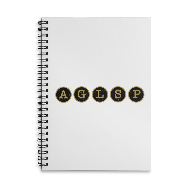 AGLSP Logo Sans Tagline Accessories Lined Spiral Notebook by AGLSP's Swag Shoppe