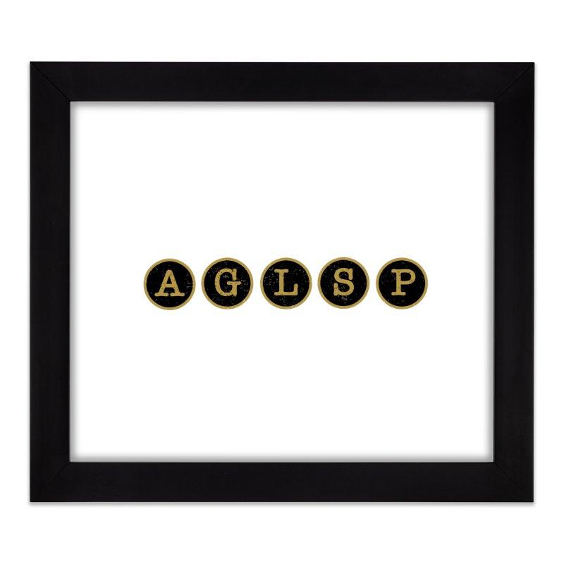 AGLSP Logo Sans Tagline Home Framed Fine Art Print by AGLSP's Swag Shoppe