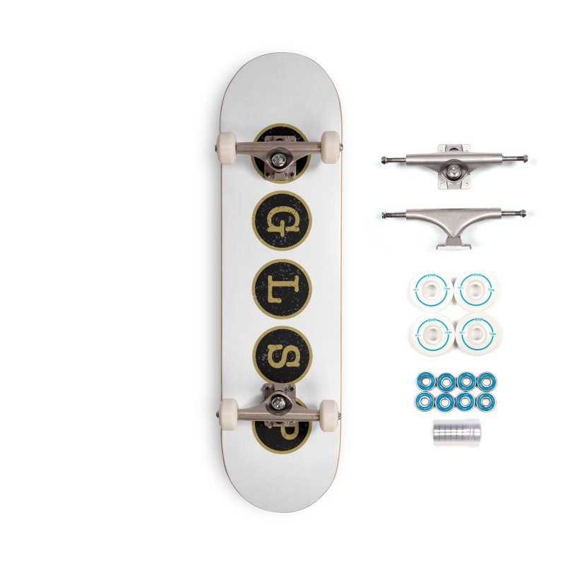 AGLSP Logo Sans Tagline Accessories Complete - Basic Skateboard by AGLSP's Swag Shoppe