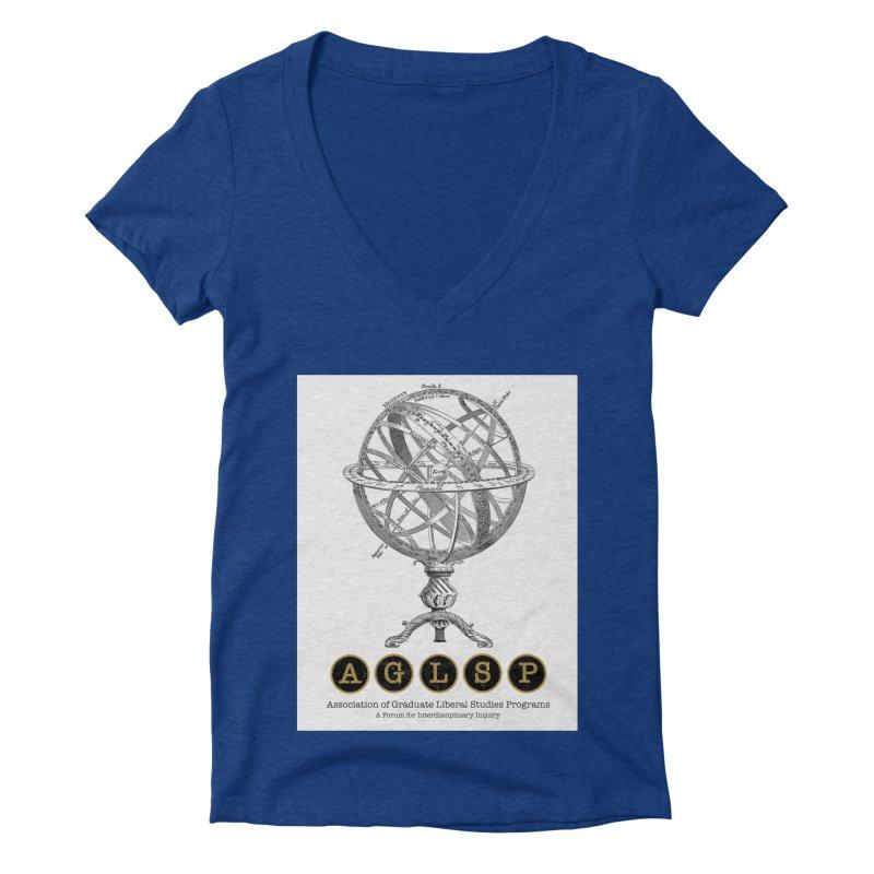 AGLSP Vintage Globe Design Women's Deep V-Neck V-Neck by AGLSP's Swag Shoppe