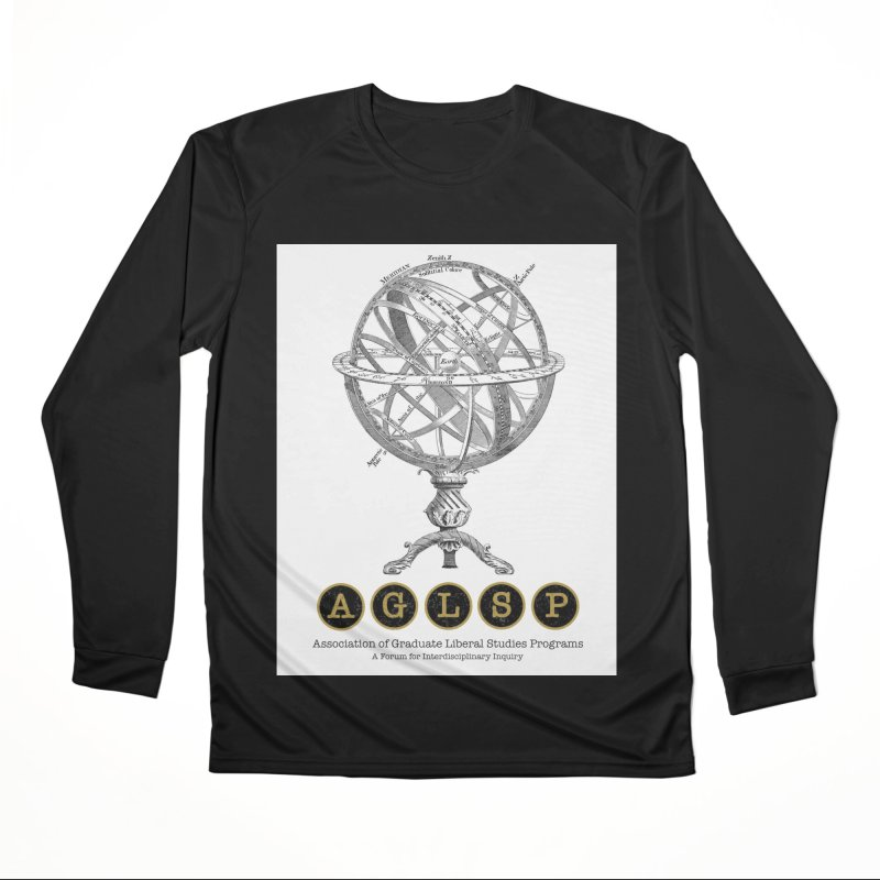 AGLSP Vintage Globe Design Men's Performance Longsleeve T-Shirt by AGLSP's Swag Shoppe