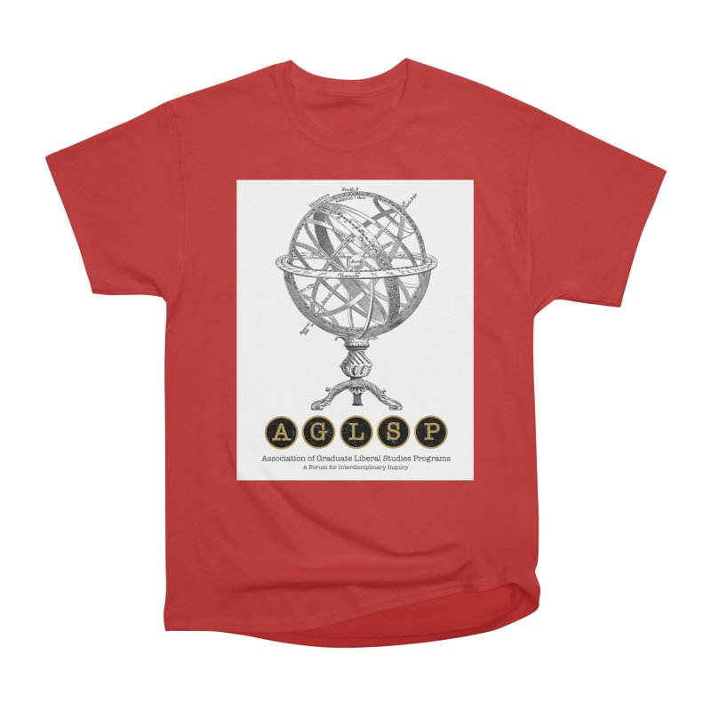 AGLSP Vintage Globe Design Men's Heavyweight T-Shirt by AGLSP's Swag Shoppe