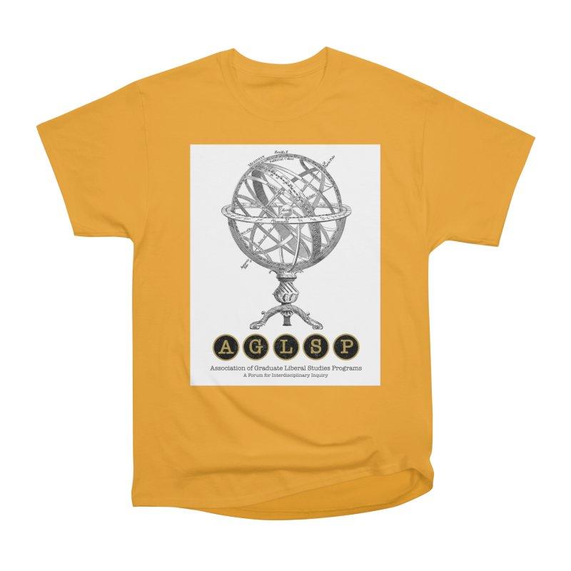 AGLSP Vintage Globe Design Men's Heavyweight T-Shirt by AGLSP's Swag Shoppe