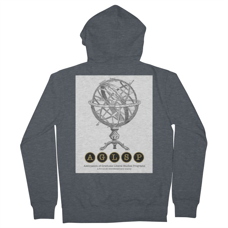 AGLSP Vintage Globe Design Women's French Terry Zip-Up Hoody by AGLSP's Swag Shoppe