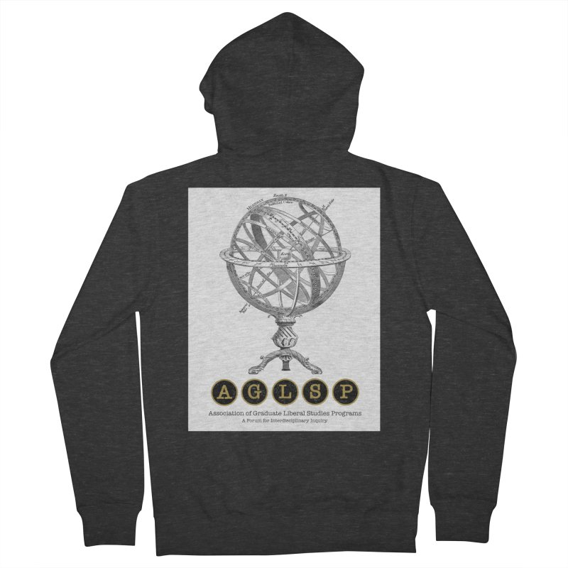 AGLSP Vintage Globe Design Men's French Terry Zip-Up Hoody by AGLSP's Swag Shoppe