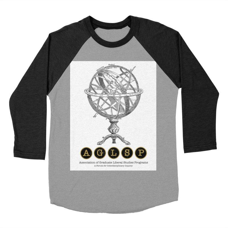 AGLSP Vintage Globe Design Men's Baseball Triblend Longsleeve T-Shirt by AGLSP's Swag Shoppe