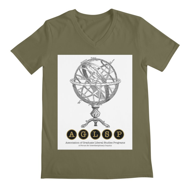 AGLSP Vintage Globe Design Men's Regular V-Neck by AGLSP's Swag Shoppe