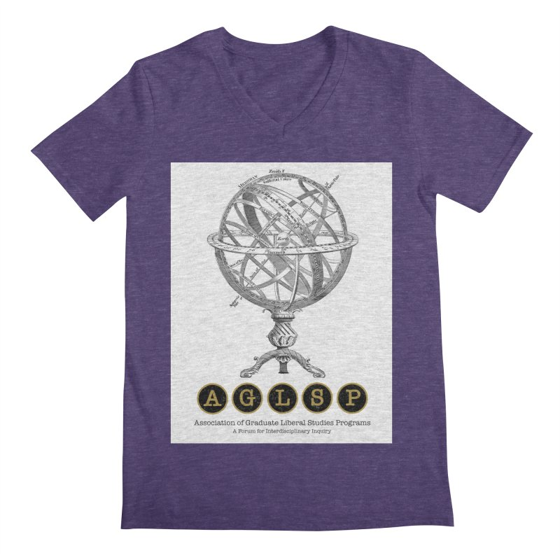 AGLSP Vintage Globe Design Men's Regular V-Neck by AGLSP's Swag Shoppe