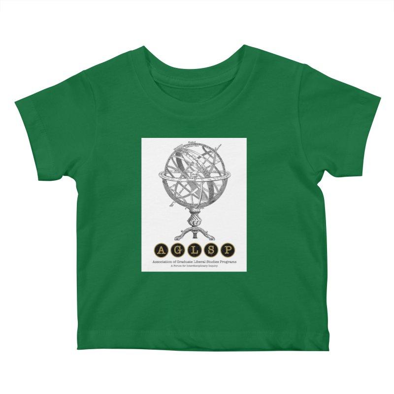 AGLSP Vintage Globe Design Kids Baby T-Shirt by AGLSP's Swag Shoppe