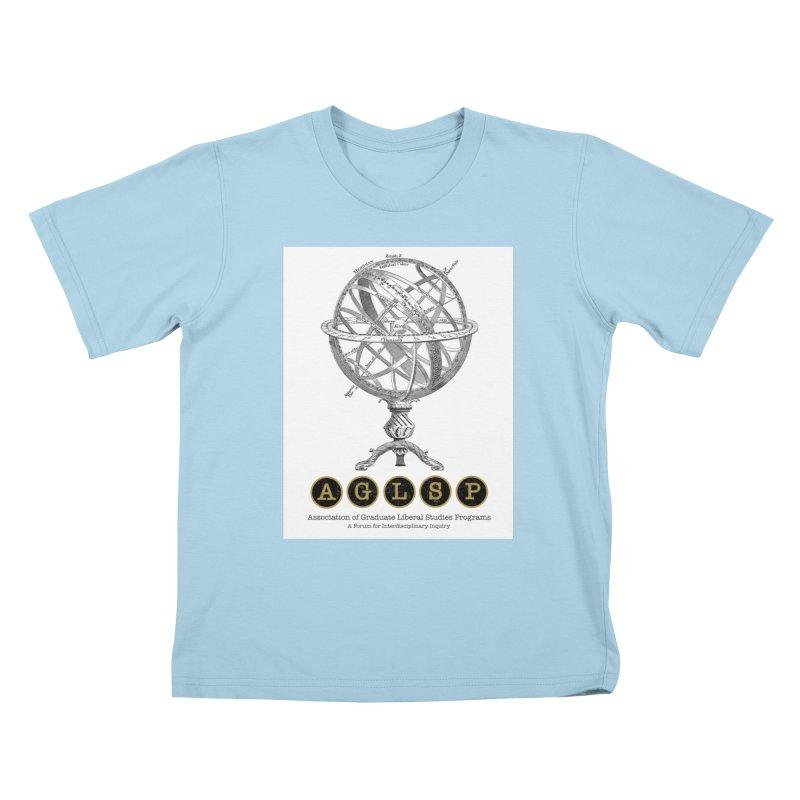 AGLSP Vintage Globe Design Kids T-Shirt by AGLSP's Swag Shoppe