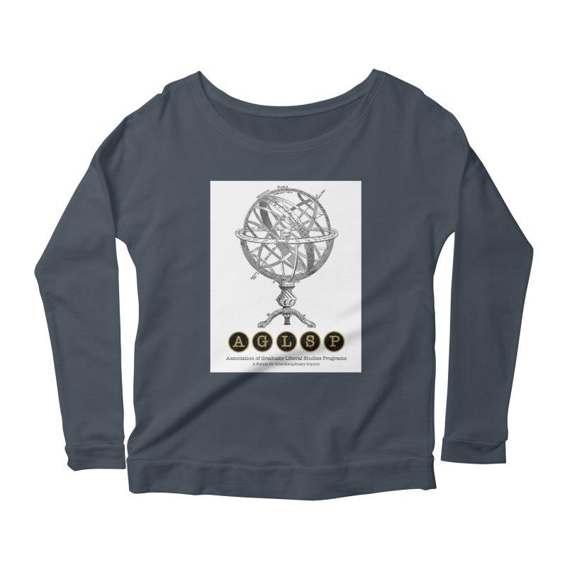 AGLSP Vintage Globe Design Women's Scoop Neck Longsleeve T-Shirt by AGLSP's Swag Shoppe