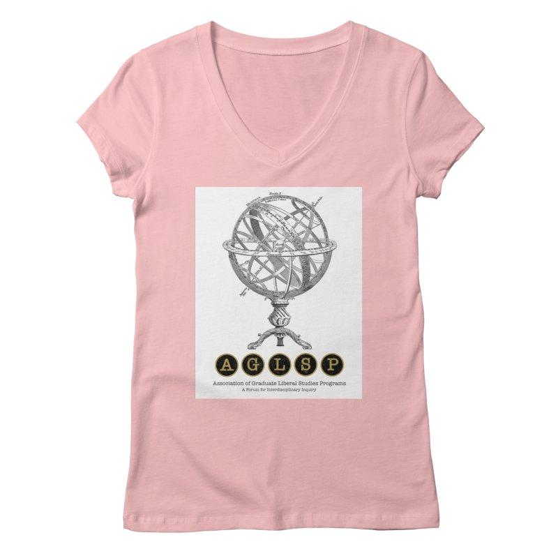 AGLSP Vintage Globe Design Women's Regular V-Neck by AGLSP's Swag Shoppe