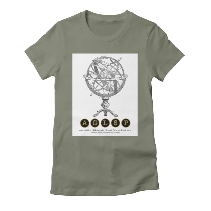 AGLSP Vintage Globe Design Women's Fitted T-Shirt by AGLSP's Swag Shoppe