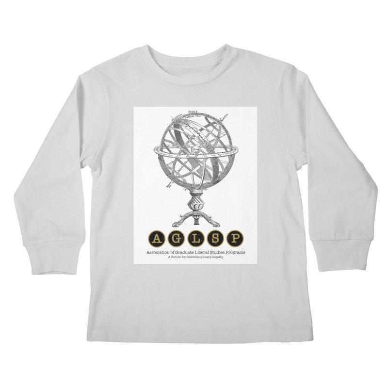 AGLSP Vintage Globe Design Kids Longsleeve T-Shirt by AGLSP's Swag Shoppe