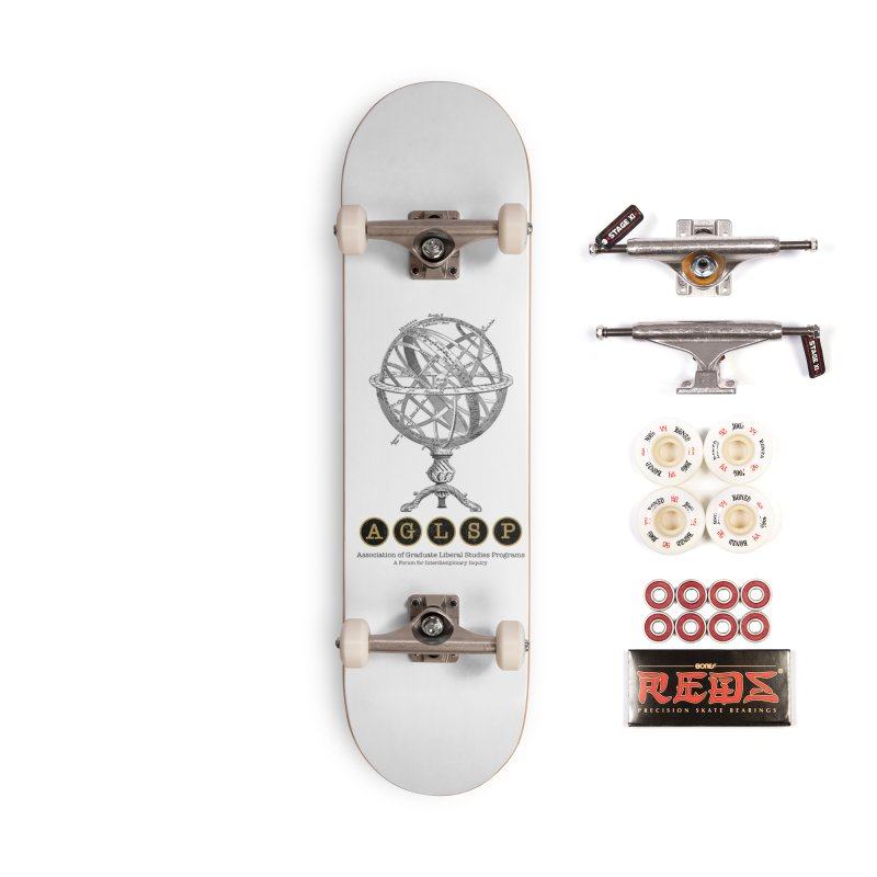 AGLSP Vintage Globe Design Accessories Complete - Pro Skateboard by AGLSP's Swag Shoppe