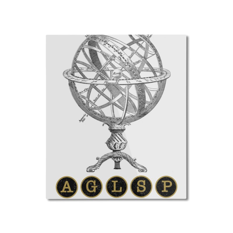 AGLSP Vintage Globe Design Home Mounted Aluminum Print by AGLSP's Swag Shoppe