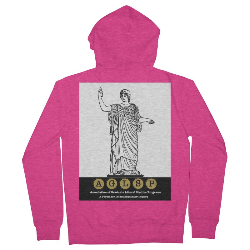 AGLSP Athena Alternate (Black Base) Women's French Terry Zip-Up Hoody by AGLSP's Swag Shoppe