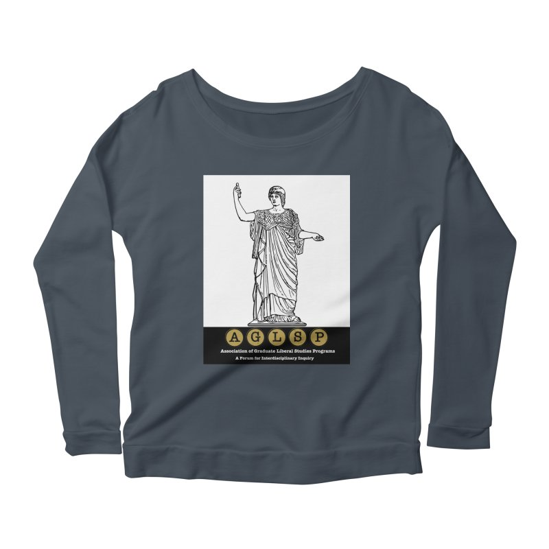 AGLSP Athena Alternate (Black Base) Women's Scoop Neck Longsleeve T-Shirt by AGLSP's Swag Shoppe
