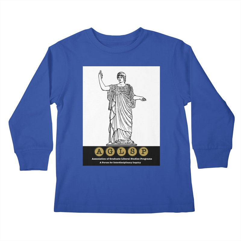AGLSP Athena Alternate (Black Base) Kids Longsleeve T-Shirt by AGLSP's Swag Shoppe