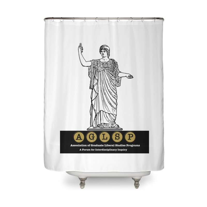 AGLSP Athena Alternate (Black Base) Home Shower Curtain by AGLSP's Swag Shoppe