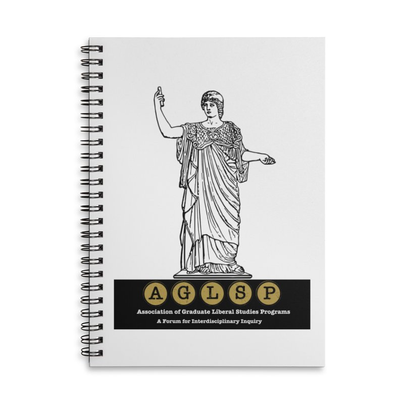 AGLSP Athena Alternate (Black Base) Accessories Lined Spiral Notebook by AGLSP's Swag Shoppe