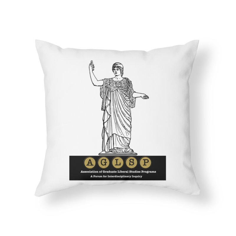 AGLSP Athena Alternate (Black Base) Home Throw Pillow by AGLSP's Swag Shoppe