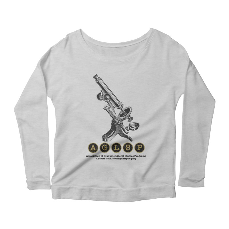 Microscopes Are Us! A New AGLSP Design Women's Scoop Neck Longsleeve T-Shirt by AGLSP's Swag Shoppe