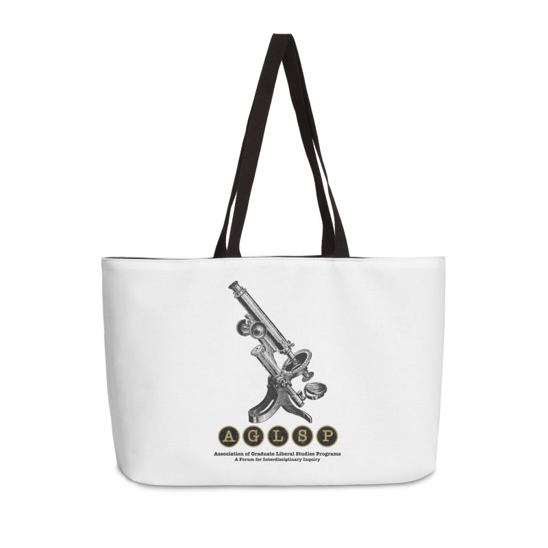 Microscopes Are Us! A New AGLSP Design Accessories Weekender Bag Bag by AGLSP's Swag Shoppe