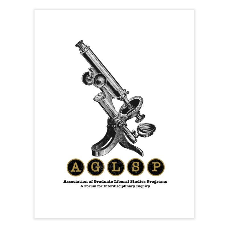 Microscopes Are Us! A New AGLSP Design Home Fine Art Print by AGLSP's Swag Shoppe