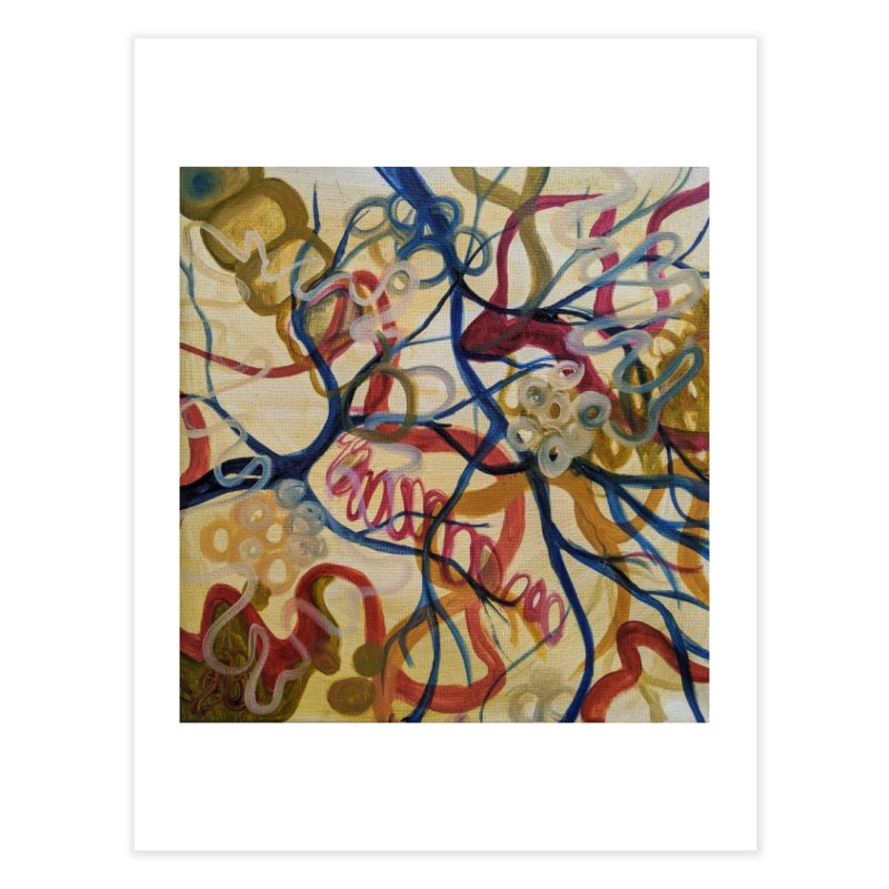 Neuroplasticity Gold Home Fine Art Print by Andrea Jennings