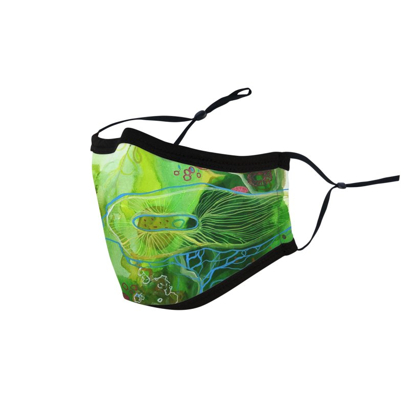 Green Watercolor Accessories Face Mask by Andrea Jennings