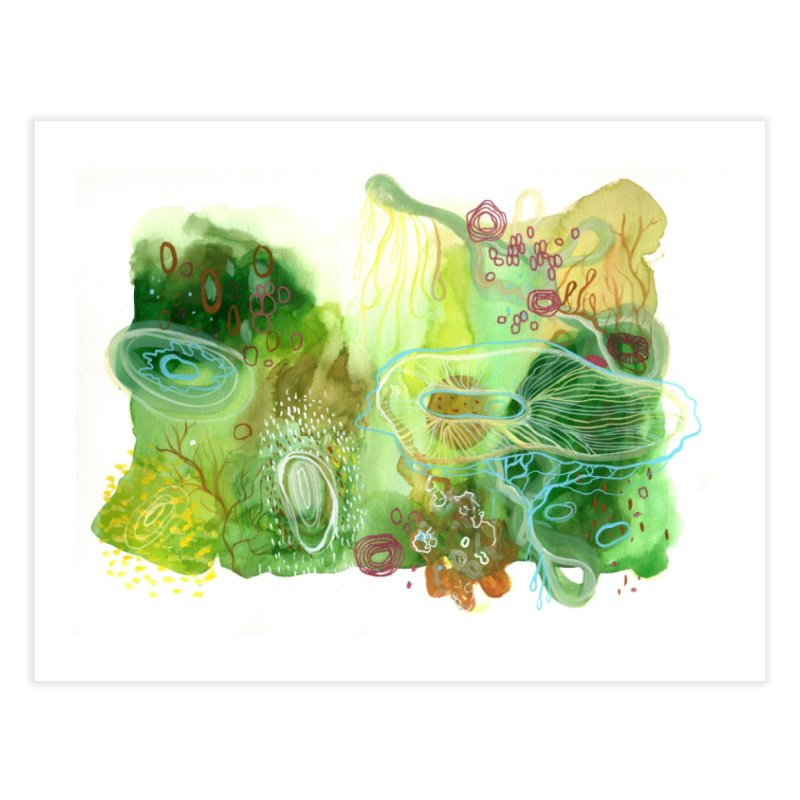 Green Watercolor Home Fine Art Print by Andrea Jennings