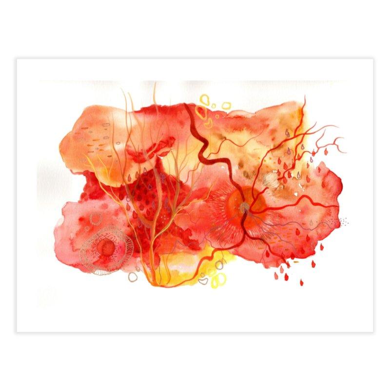 Retina Watercolor Home Fine Art Print by Andrea Jennings