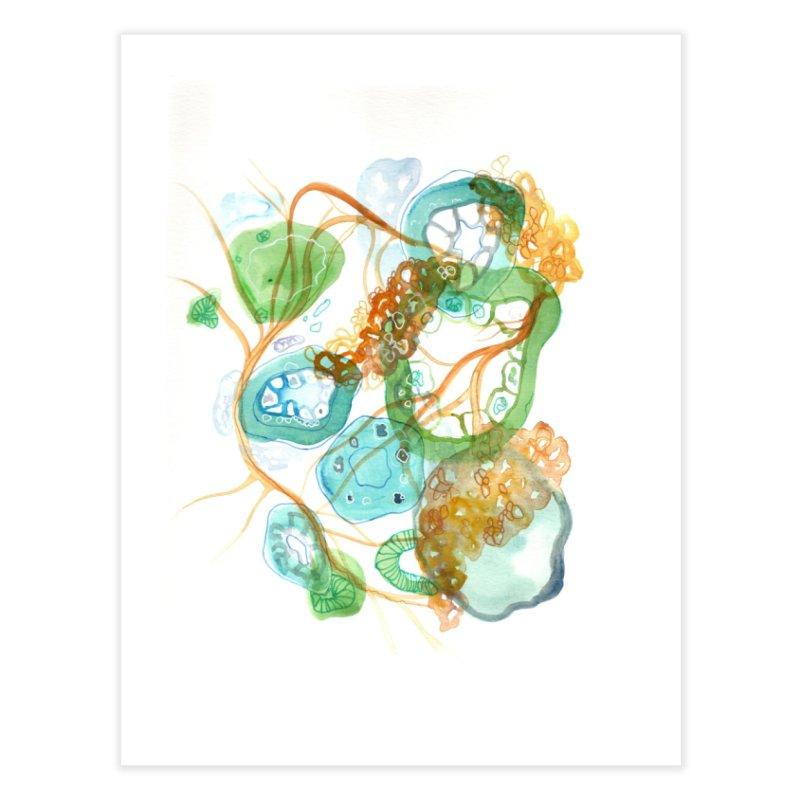 Green Loops Home Fine Art Print by Andrea Jennings