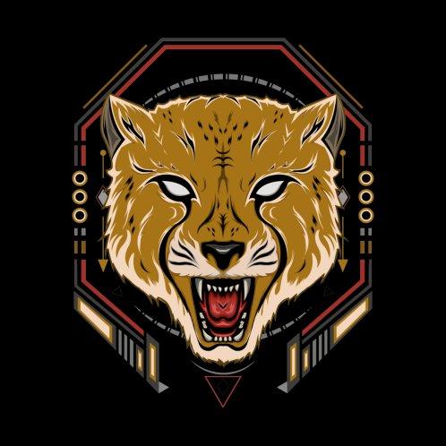 Design for Angry cheetah vector art. cheetah illustration