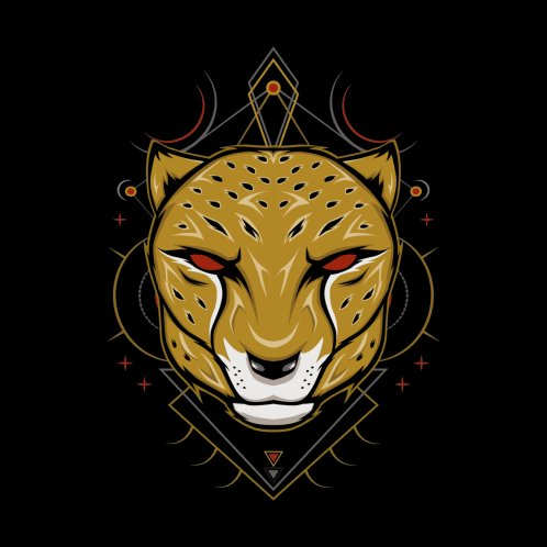 Design for Cheetah African wild animal head or leopard muzzle