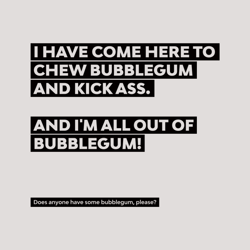 Kick Ass Bubblegum Men's T-Shirt by agostinho's Artist Shop