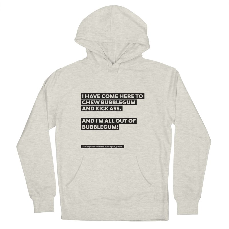 Kick Ass Bubblegum Men's French Terry Pullover Hoody by agostinho's Artist Shop
