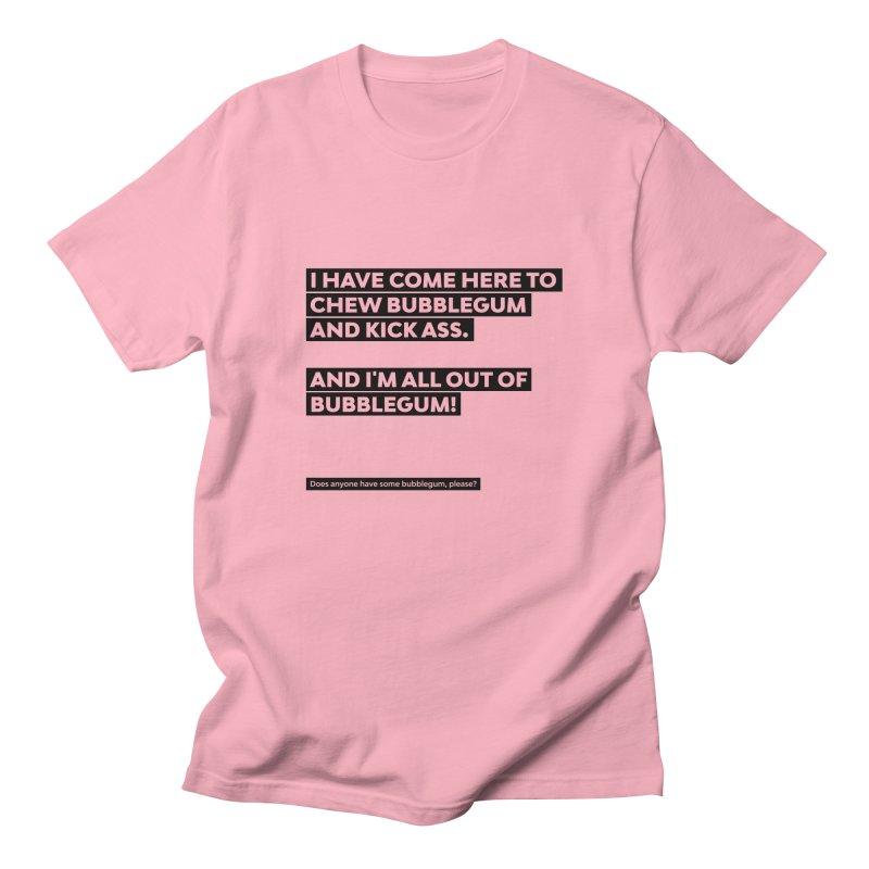 Kick Ass Bubblegum Men's T-Shirt by agostinho's Artist Shop