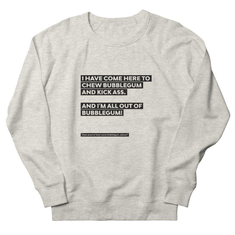 Kick Ass Bubblegum Men's French Terry Sweatshirt by agostinho's Artist Shop
