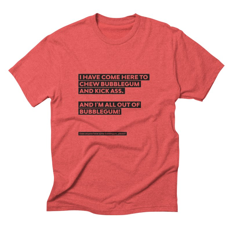 Kick Ass Bubblegum Men's Triblend T-Shirt by agostinho's Artist Shop